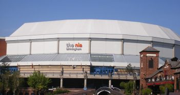 Exterior photo of the Utilita arena (formerly the NIA)