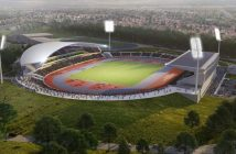 An artist's impression of the revamped Alexander Stadium