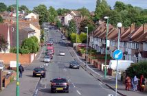 Church Hill Road in Handsworth, Birmingham