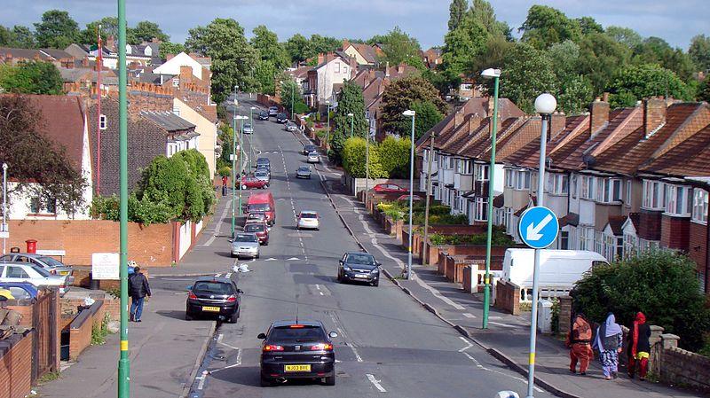 Church Hill Road in Handsworth, Birmingham