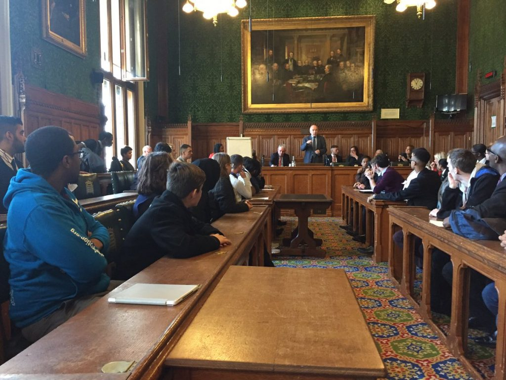 Photo by Urban Devotion – Erdington young people meeting in Westminster for Erdington Youth Parliament 2018