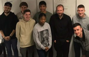 Birmingham Live football editor Mat Kendrick with the sports journalism students