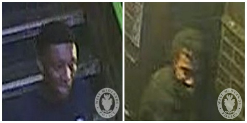 Images of the men police want to speak to