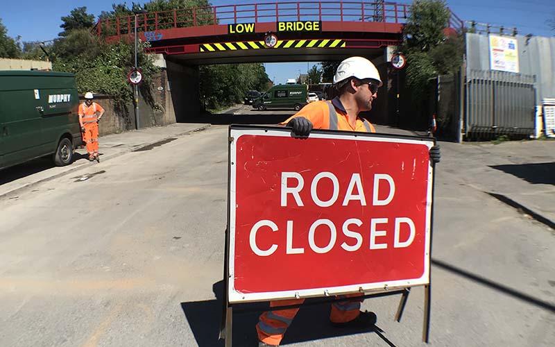 Workmen reopen Landor Street after bridge repairs