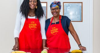 Lee Sylvester, left, and Monica Cudjoe, of Tan Rosie Caribbean Cookery School.