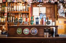 Bar in a pub with alcohol