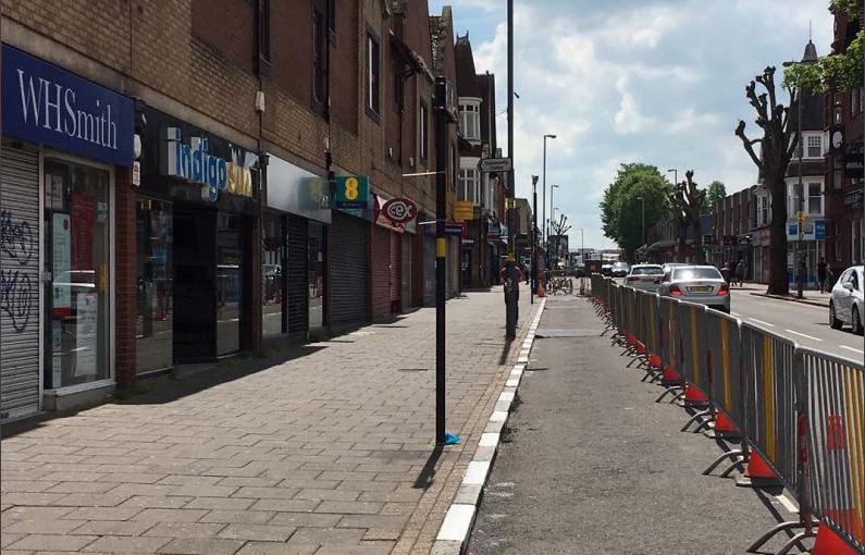 Expanding walking spaces in Kings Heath, Birmingham