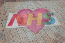 NHS written in a heart