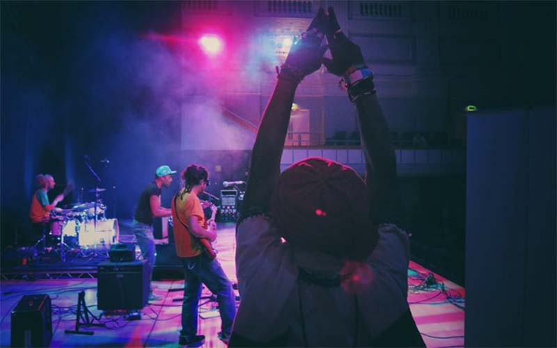 Rob Hadley's picture of Tomlin Mystic side stage at Birmingham Town Hall