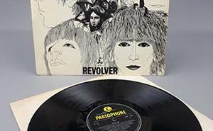 The rare early copy of the Revolver album by The Beatles