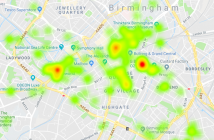 Map explores stop and search in Birmingham